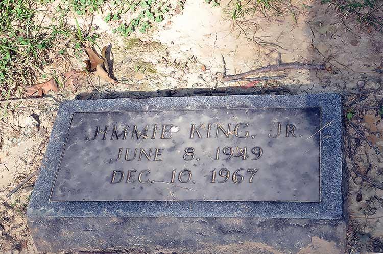 Jimmie King Jr grave