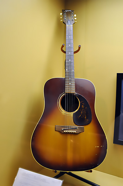 Mack Rice's acoustic Gibson, Stax Museum