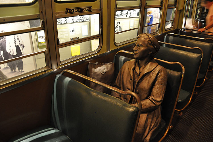 Rosa Parks on the bus, National Civil Rights Museum, Memphis, Tennessee