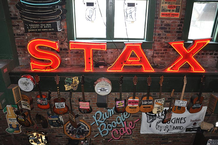 Rum Boogie Cafe, original Stax sign, Memphis, Tennessee