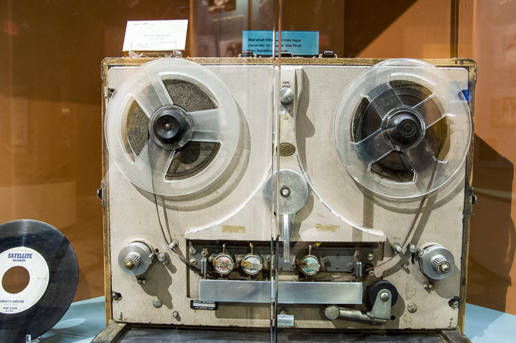 Satellite's first tape recorder, Stax Museum, Memphis, Tennessee