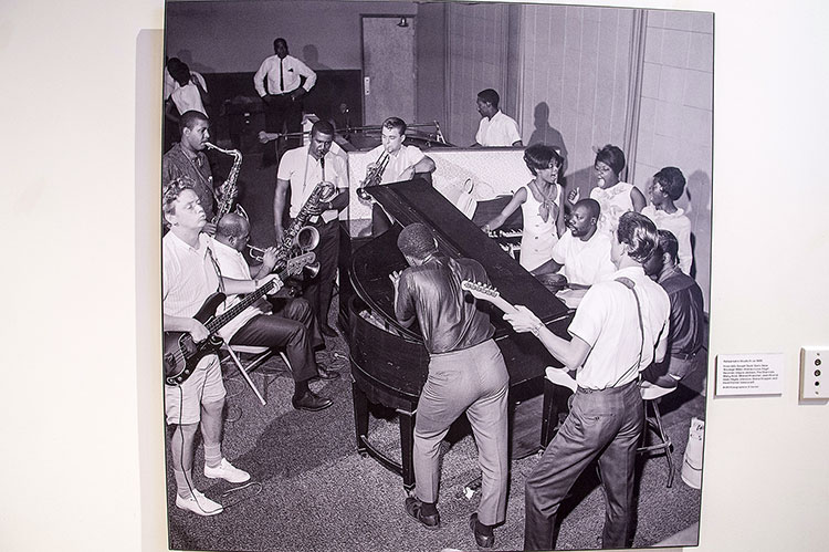 Rehearsal in studio A, Stax Museum