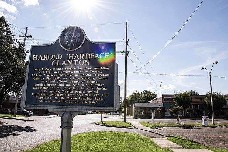 Harold 'Hardface' Clanton marker