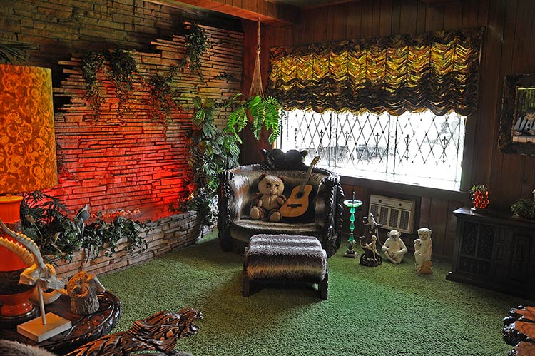 Jungle room at Elvis Presley's Graceland mansion in Memphis