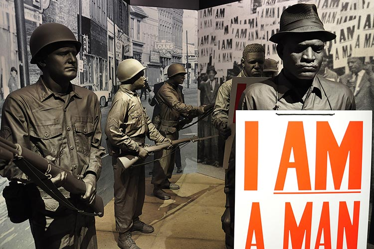 I Am a Man, Sanitation workers strike, National Civil Rights Museum