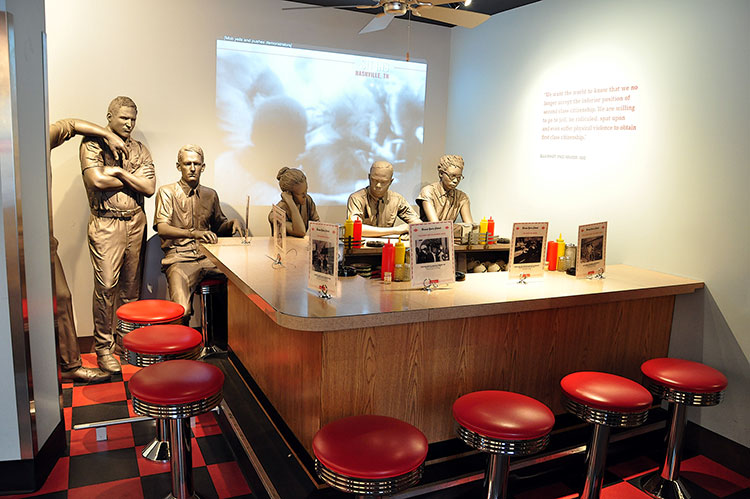 Students sit-ins in 1960, National Civil Rights Museum