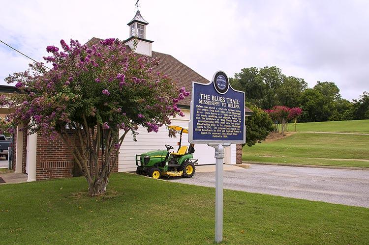 Blues Trail marker, Helena, Arkansas