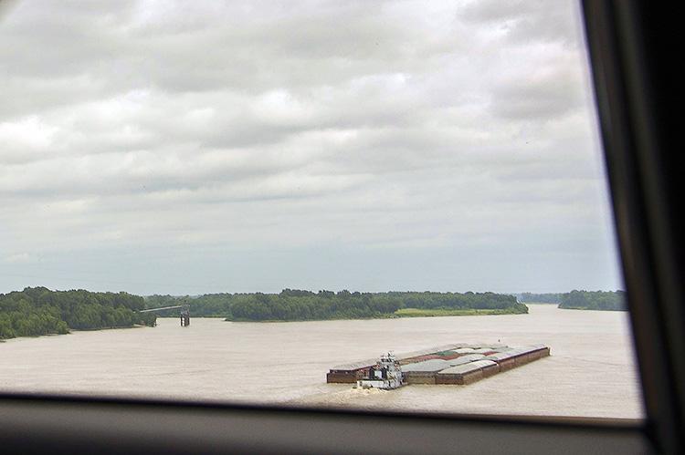 Barge on the Mississippi, Helena, Arkansas