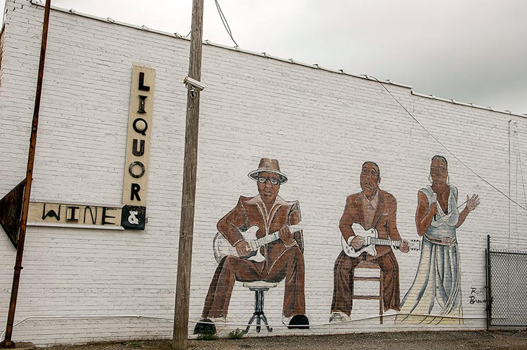 Hooker, Muddy and Bessie mural