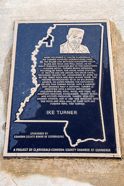 Ike Turner plate, Clarksdale, Mississippi