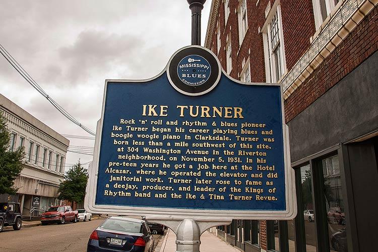 Ike Turner blues marker, Clarksdale, Mississippi