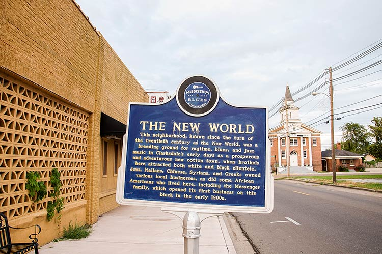 New World blues marker, Clarksdale, Mississippi