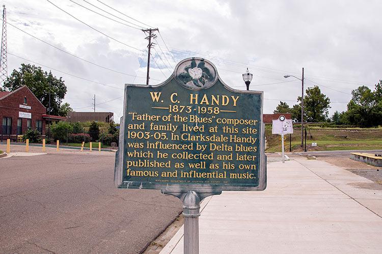 W.C. Handy's former site, Clarksdale, Mississippi