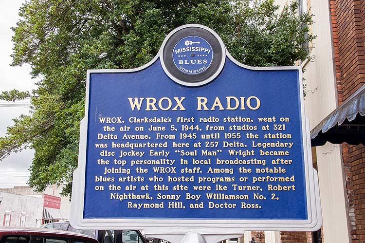 WROX radio blues marker, Clarksdale, Mississippi