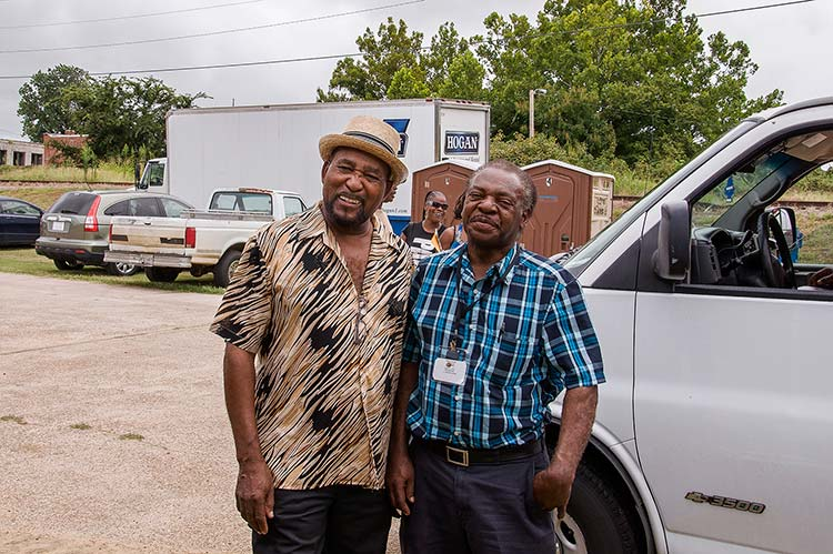 Super Chikan and Lil Willie Farmer at Sunflower River Blues & Gospel Festival, Clarksdale, Ms