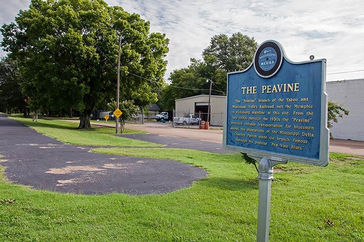 The Peavine Railroad blues marker, Boyle, Mississippi