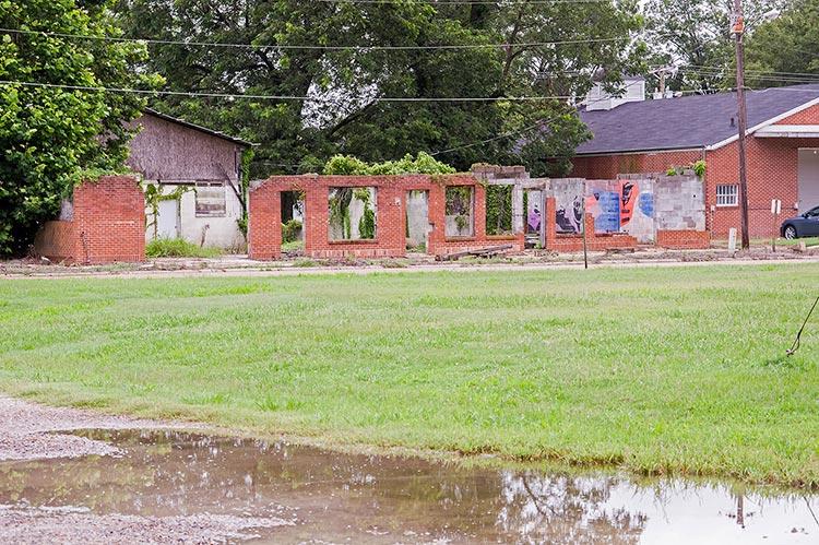 Ruins, Mound Bayou, Mississippi, on Old Highway 61
