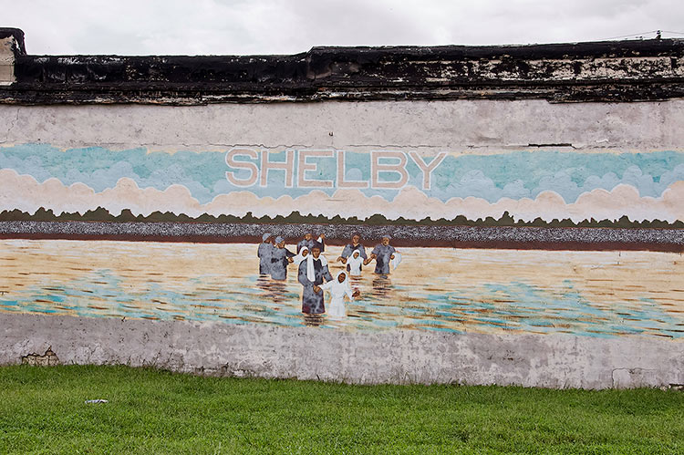 Mural in Shelby, Mississippi