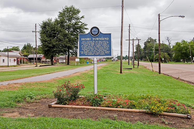 Henry Townsend blues marker, Shelby, Mississippi