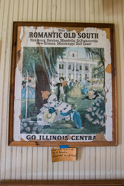 "Poster ""Old South"", Public Library in the old railway depot, Shelby, Mississippi"