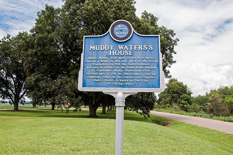 Muddy Waters marker, Stovall Farms, Mississippi