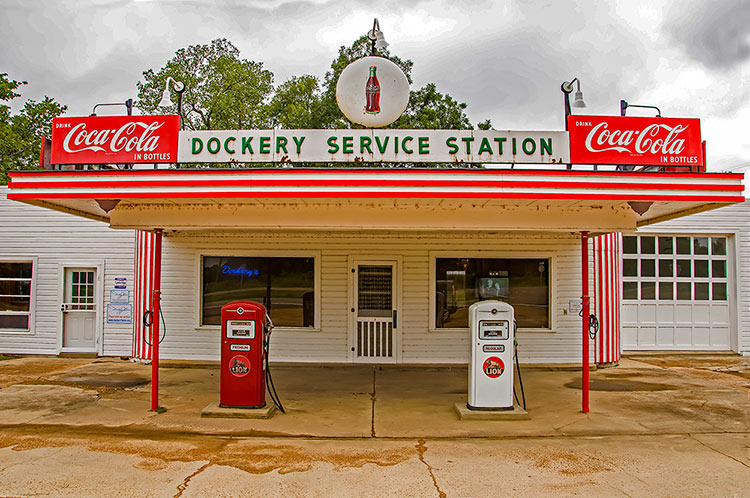 Dockery Farms service station, Mississippi