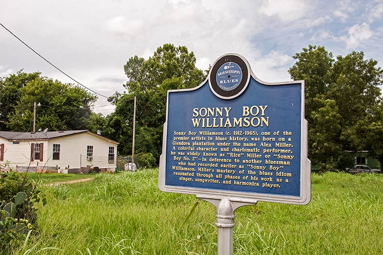 S.B. Williamson II marker, Glendora, Mississippi, on Highway 49 E