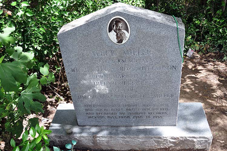 Sonny Boy Williamson's grave, Tutwiler, Mississippi