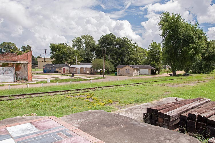 Site of the legendary railway station where W.C. Handy had the blues epiphany in 1903, Tutwiler, Mississippi