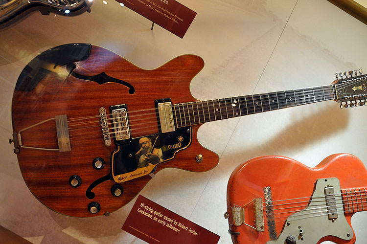 Robert Jr Lockwood's 12-string Guild guitar, B.B. King Museum
