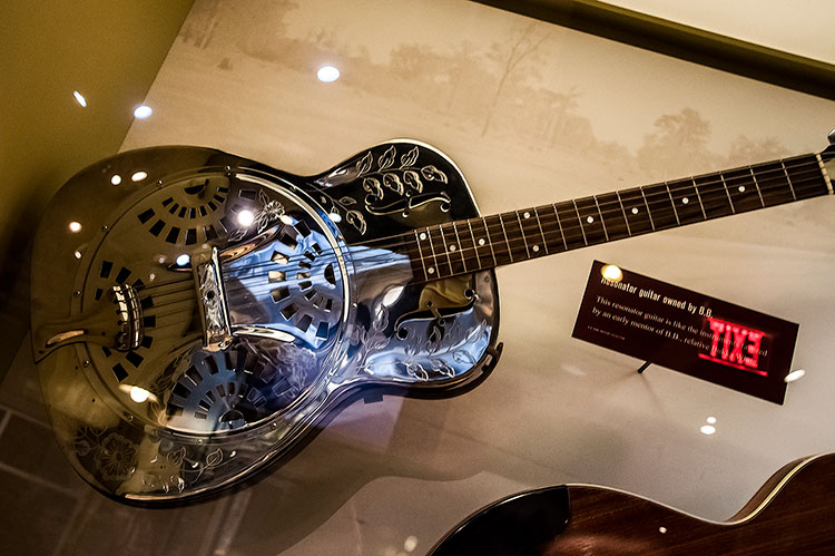 Resonator guitar owned by B.B., B.B. King Museum, Indianola, Mississippi