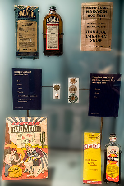 Patented medicines Hadacol and Pep-Ti-Kon at B.B. King Museum