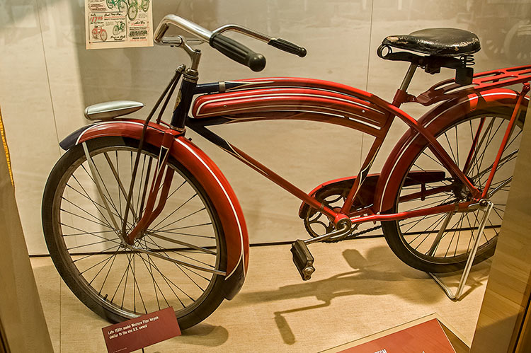 1930s Western Flyer bicycle, B.B. King Museum, Indianola, Mississippi