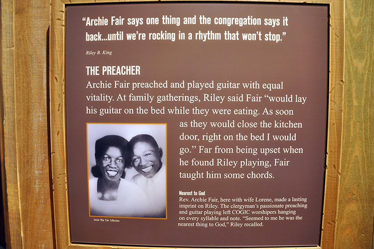 Rev. Archie Fair, B.B. King Museum, Indianola, Mississippi
