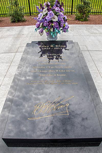 B.B. King's grave, Indianola, Mississippi