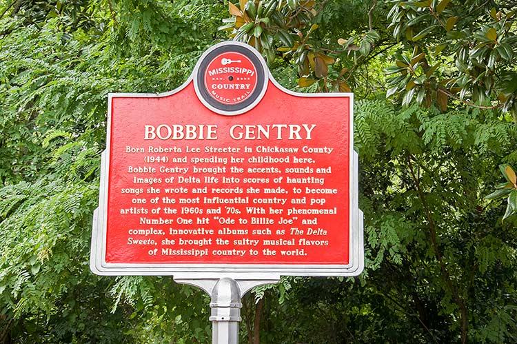 Bobbie Gentry marker, Greenwood, Mississippi