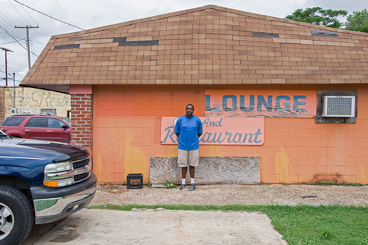 Michael of George's Lounge and Restaurant, Church St., Indianola, Mississippi