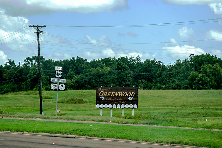 Welcome to Greenwood, Mississippi, Cotton Capital of the World