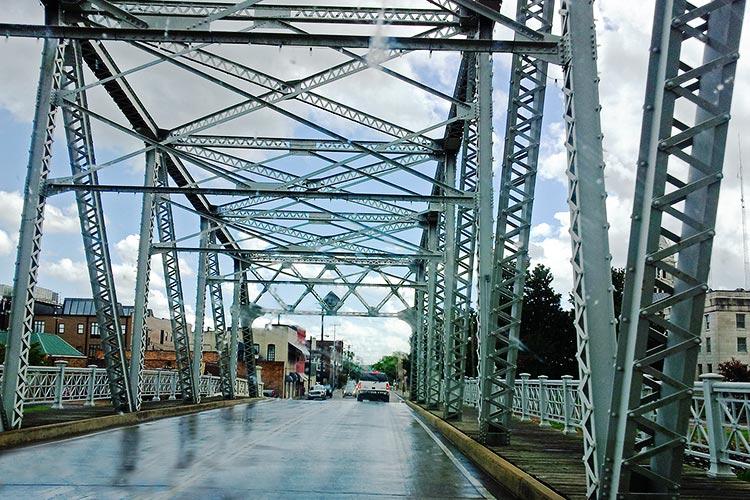 Bridge on Tallahatchie River, Greenwood, Mississippi