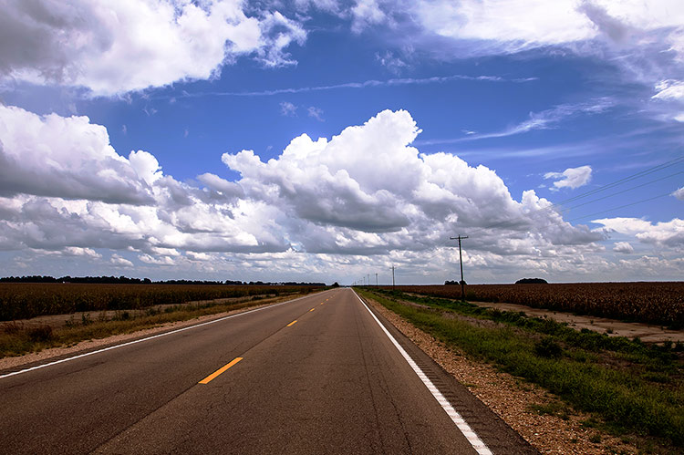 Highway 49 E, toward Greenwood, Mississippi