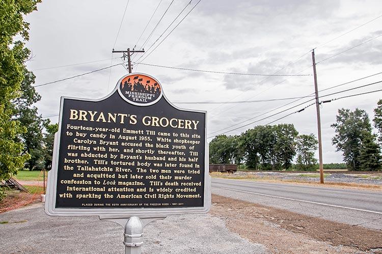 Bryant's Grocery marker, Money, Mississippi