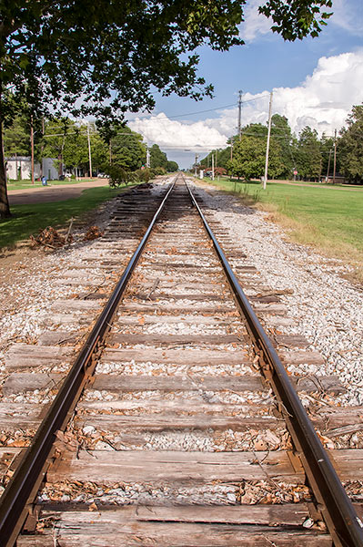 Southern Railway at Moorhead, Mississippi, east view