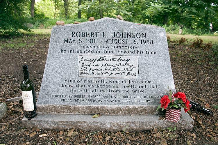 Robert Johnson's grave, Greenwood, Mississippi