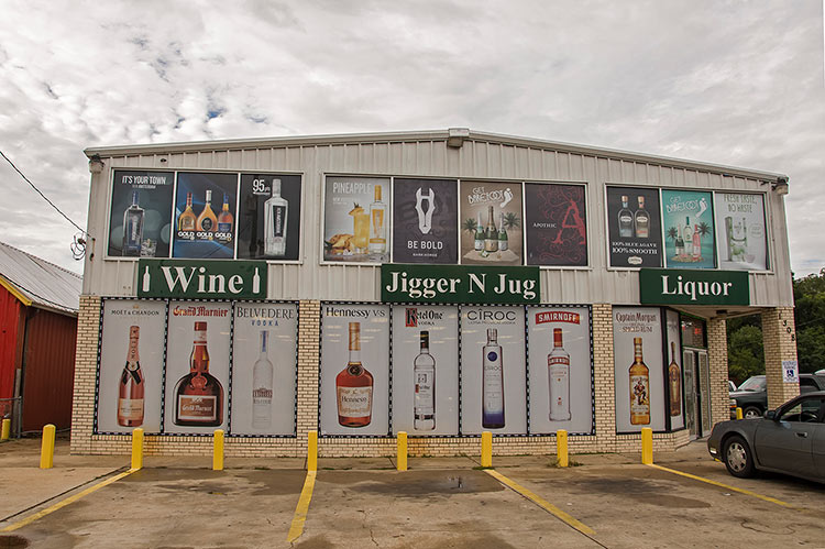 Jigger N Jug Package Store, Greenville, Mississippi