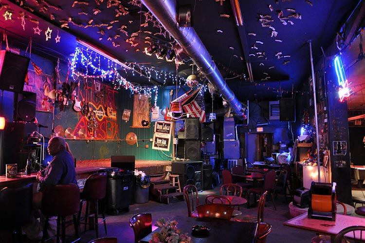 Walnut Street Blues Bar (dollars on ceiling), Greenville, Mississippi