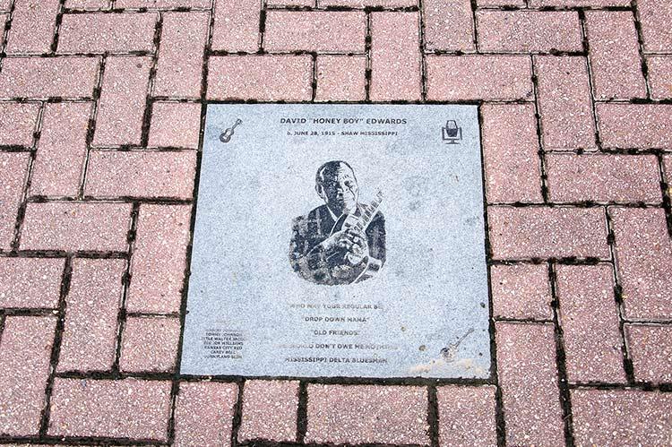 David 'Honeyboy' Edwards, Walk of Fame, Walnut Street
