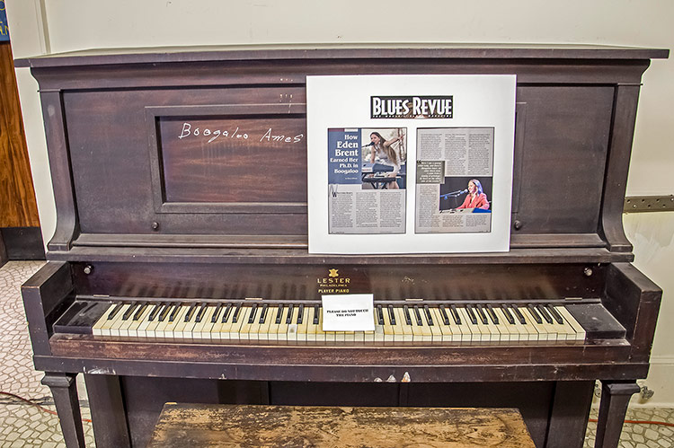 'Boogaloo' Ames's piano, Highway 61 Blues Museum, Leland, Mississippi