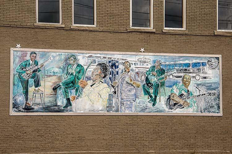 B.B. King mural, Leland, Mississippi