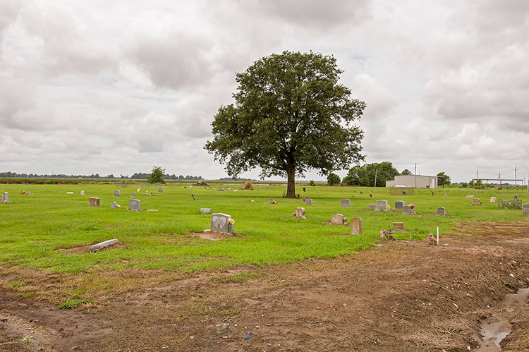 Charlie Patton's sitegrave at the New Jerusalem M.B. Church Cemetery, Holly Ridge, Mississippi