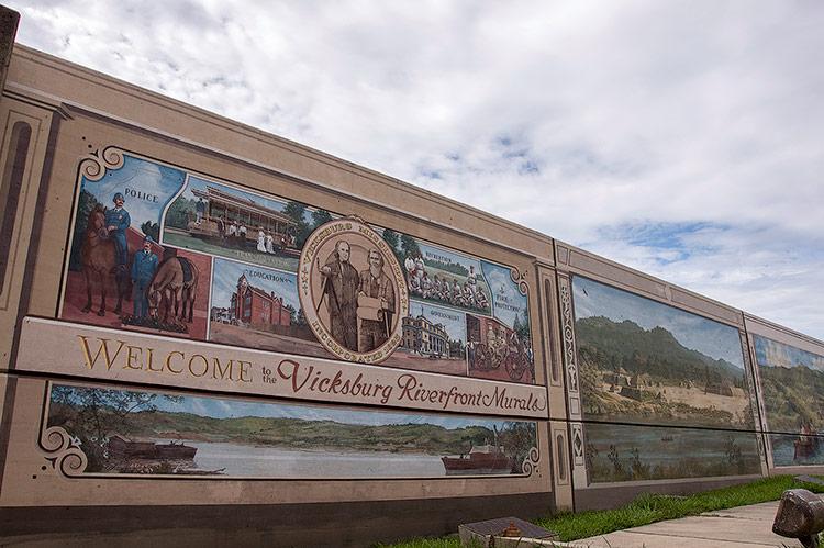 Riverfront murals, Vicksburg